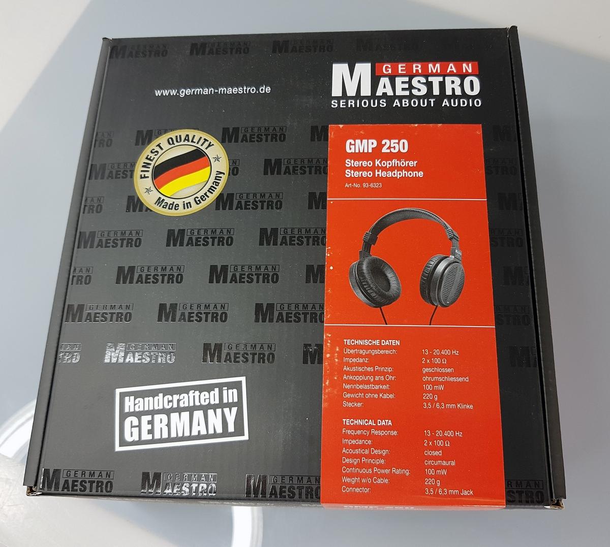 Накладные наушники GermanMAESTRO GMP 250:MAESTRO опять очаровал своей музыкой