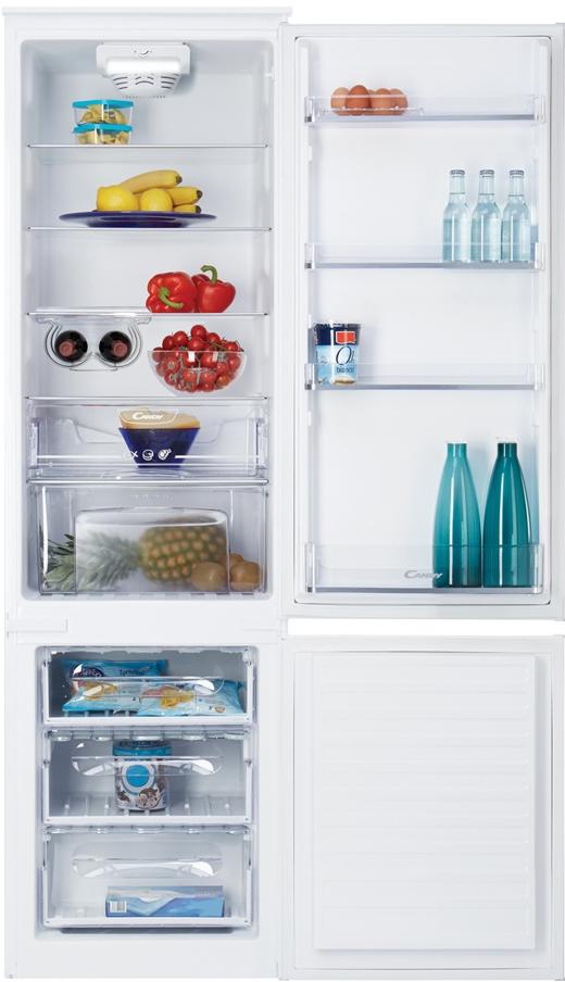самый большой встраиваемый двухкамерный холодильник