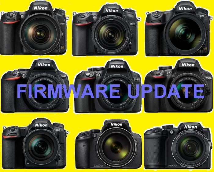 Новые прошивки для камер Nikon D850, D750, D7500, D7200, D5600