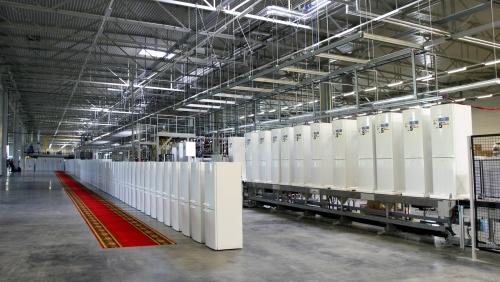 Конвейер сборки холодильников поворотный модуль конвейера