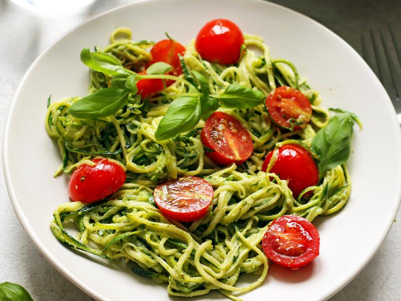 Спираль из овощей