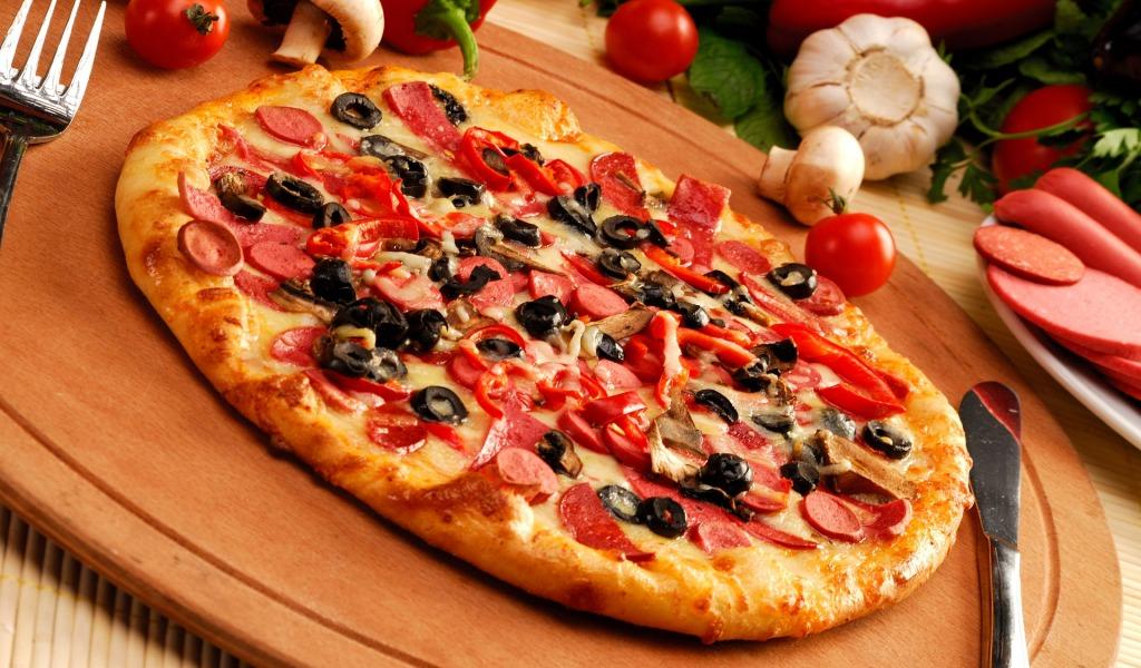 рецепт пиццы комбинированной