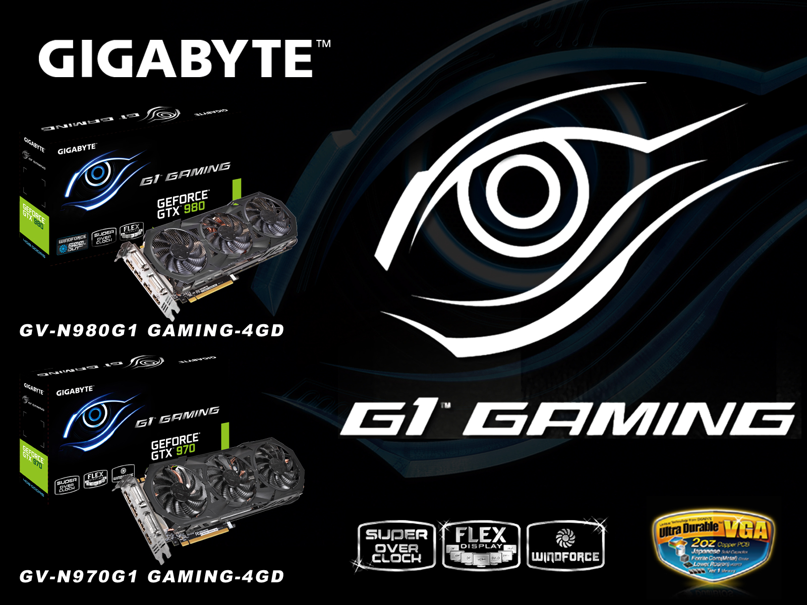 Графические карты GIGABYTE GeForce® GTX 980 и GTX 970 из