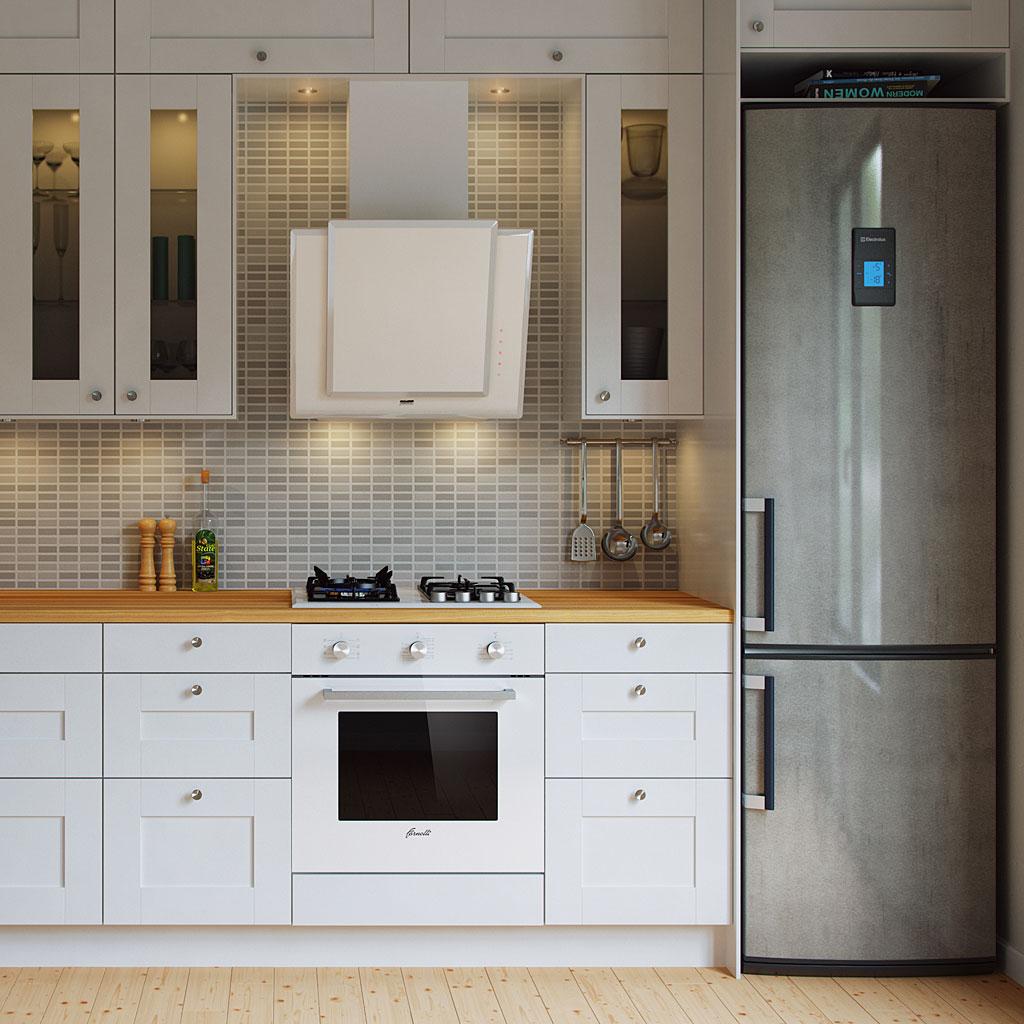 Для вытяжки на кухне интерьер