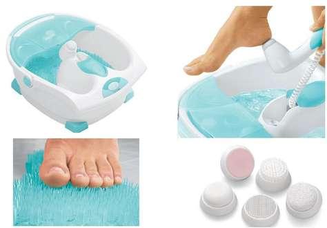 Разнообразные педикюрные ванны для любительниц высокого каблучка
